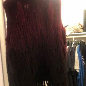 Real fur women's vest